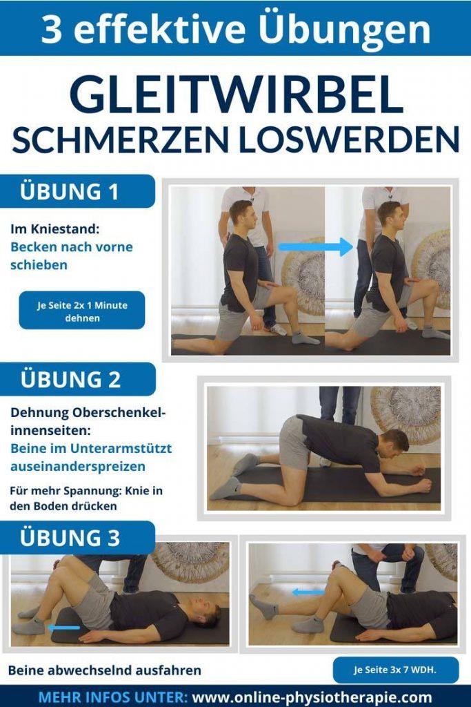 Gleitwirbel-Übungen, Übungen bei Gleitwirbel, Wirbelgleiten, Spondylolisthesis Übungen