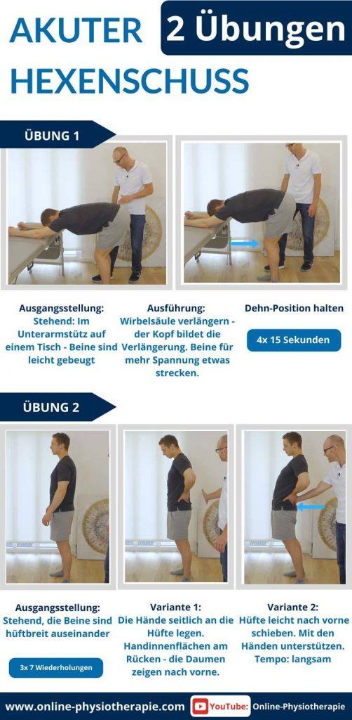 Hexenschuss Übungen, Lumbago Übungen, Hexenschuss, Rückenschmerzen, Stechen im Rücken, Blockade LWS