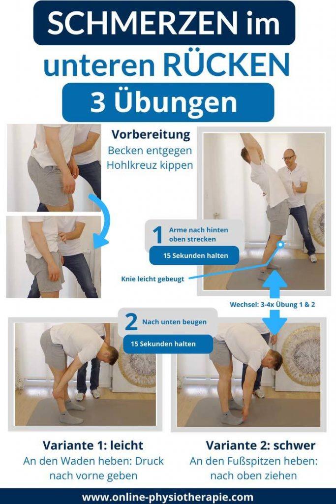 Rückenschmerzen im unteren Rücken, Rückenschmerzen, Rückenschmerzen Übungen, LWS-Schmerzen-Übungen, Übungen Rückenschmerzen