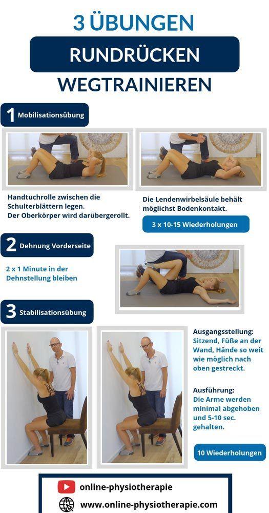 Gerader Rücken Übungen, Rundrücken Training, Rundrücken Übungen, Hyperkyphose Übungen
