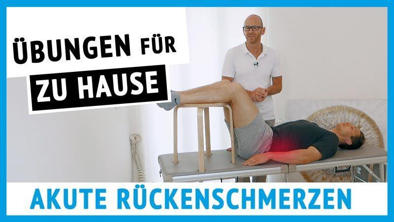 Akute starke Rückenschmerzen-Übungen