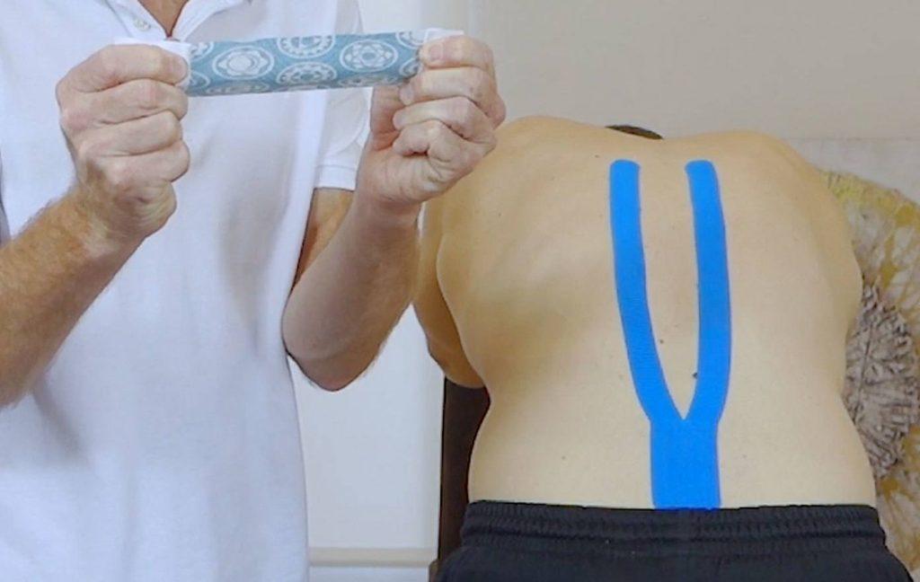 Rückenschmerzen-Kinesio-Tape