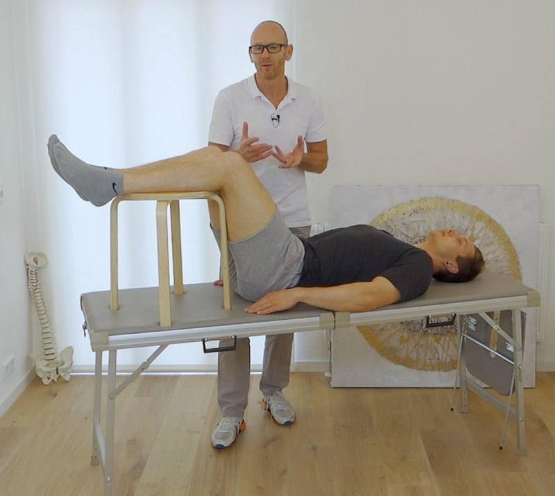 Stufenlagerung Rückenschmerzen