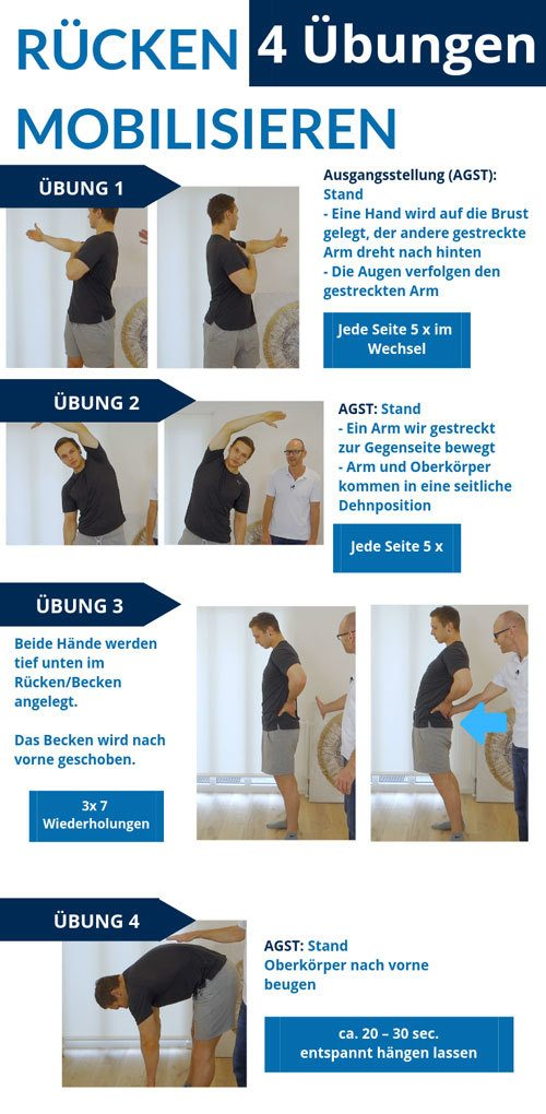 Steifer Rücken mobilisieren