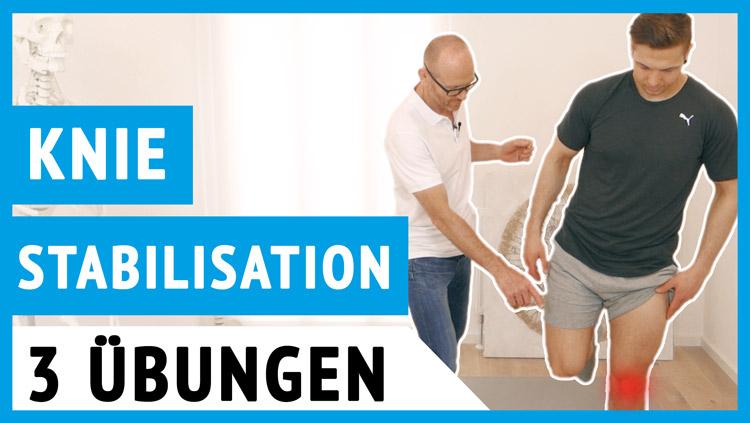 Knie-stabilisieren Übungen