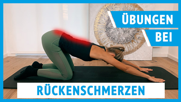 Das Bild zeigt Übungen gegen Rückenschmerzen