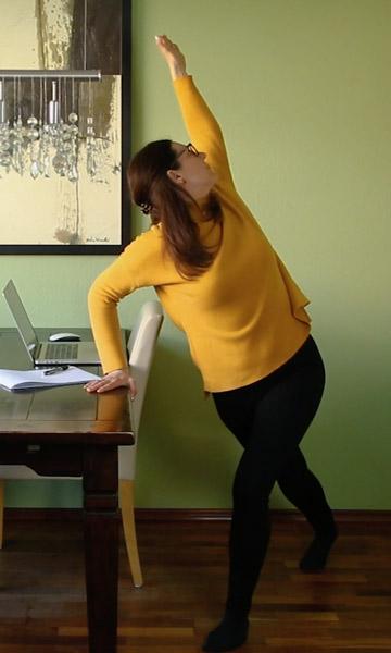 Home Office Dehnübung