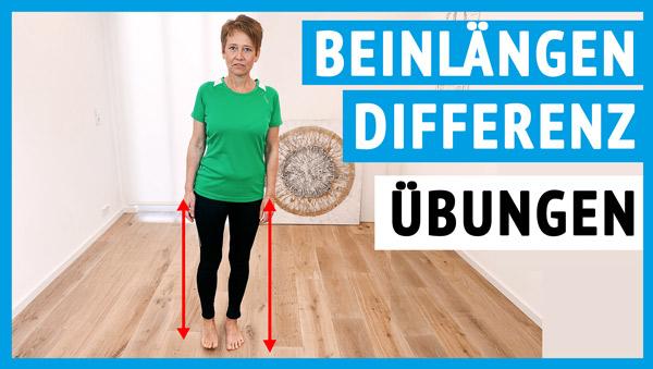 Beinlängendifferenz Übungen